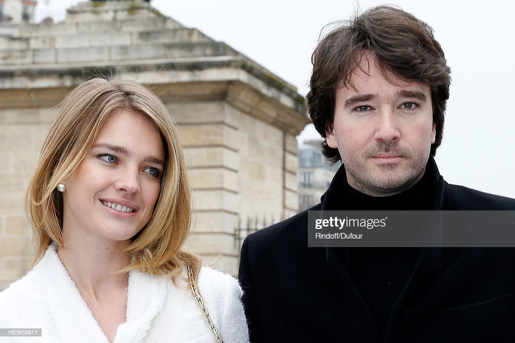 Natalia Vodianova and Antoine Arnault attend the Christian Dior Fall/Winter 2013 Ready-to-Wear show as part of Paris Fashion Week on March 1, 2013 in Paris, France.