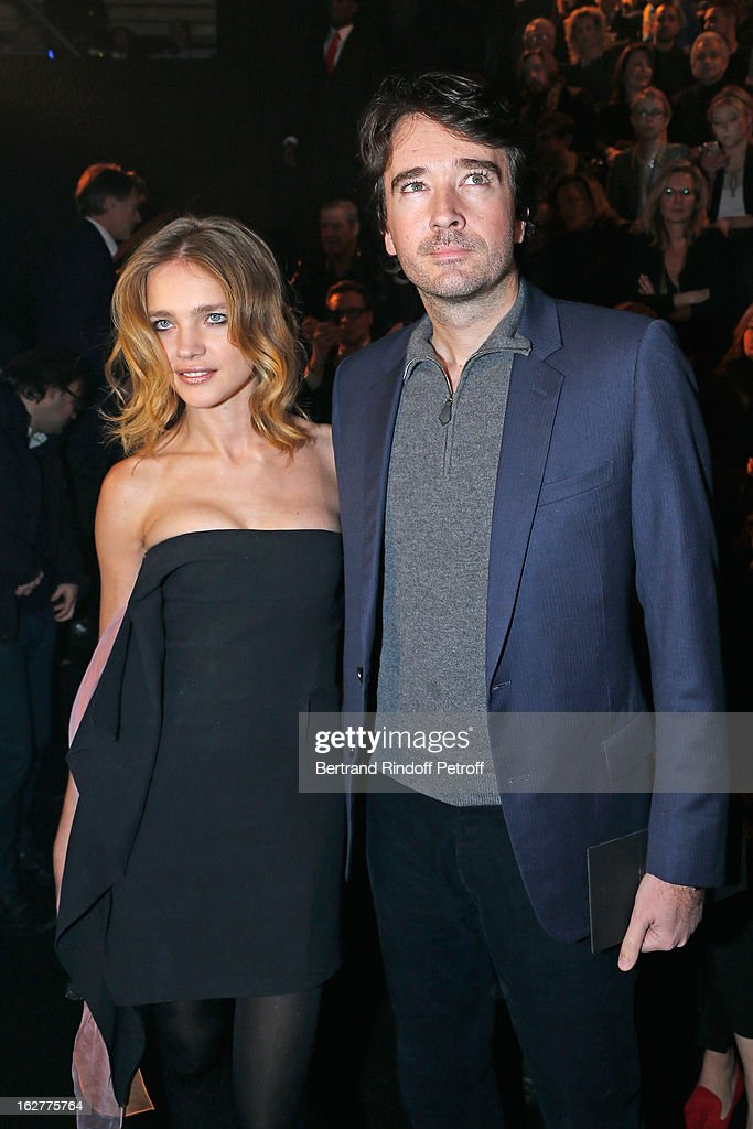 Natalia Vodianova and Antoine Arnault attend the Etam Live Show Lingerie at Bourse du Commerce on February 26, 2013 in Paris, France.
