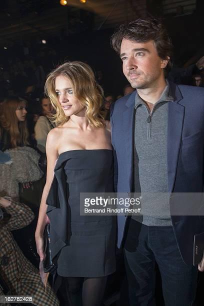 Natalia Vodianova and Antoine Arnault attend the Etam Live Show Lingerie at Bourse du Commerce on February 26 2013 in Paris France