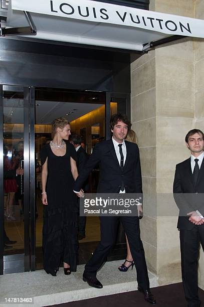 Natalia Vodianova and Antoine Arnault attend the Louis Vuitton new boutique opening as part of Paris HauteCouture Fashion Week Fall / Winter 2012/13...