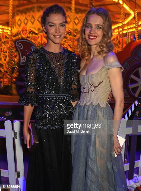 Natalia Vodianova and Arizona Muse attend LondonÕs Fabulous Fund Fair hosted by Natalia Vodianova and Karlie Kloss in support of The Naked Heart...