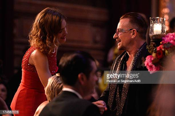 Natalia Vodianova and Bono attend the dinner at 'Love Ball' hosted by Natalia Vodianova in support of The Naked Heart Foundation at Opera Garnier on...