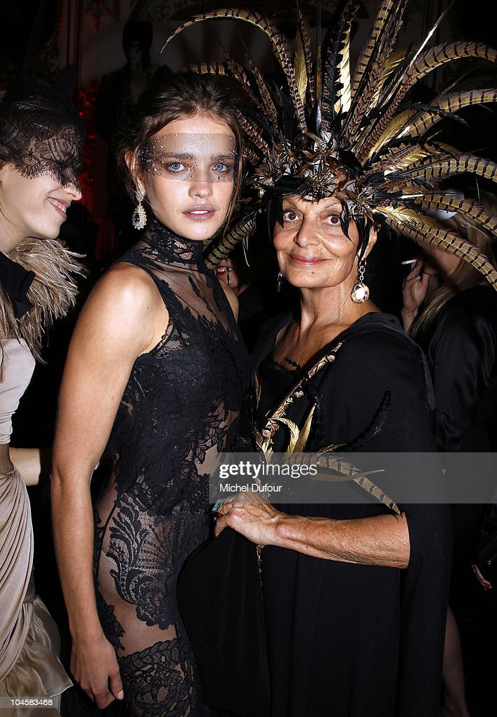 Natalia Vodianova and Diane von Furstenberg attend Vogue 90th Anniversary Party as part of Ready to Wear Spring/Summer 2011 Paris Fashion Week at...