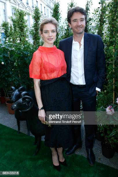 Natalia Vodianova and General manager of Berluti Antoine Arnault attend the 'The Garden of Peter Marino' Book Signing at 'Moulie Flowers' on May 15...