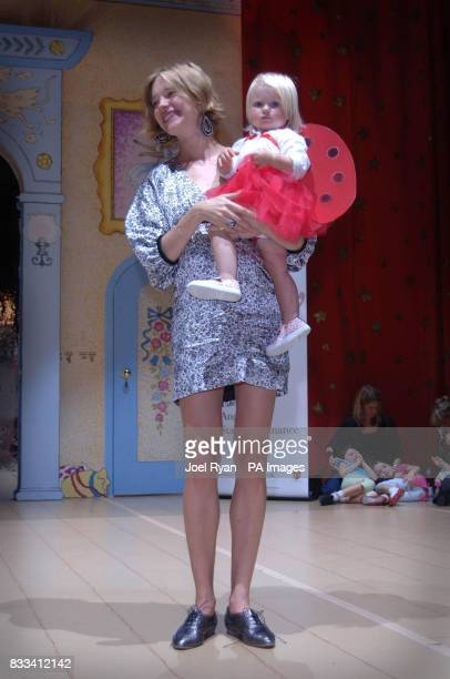 Natalia Vodianova and her daughter Neva attend Angelina Ballerina's Star Performance at the start of the 12 week regional tour across the UK at the...