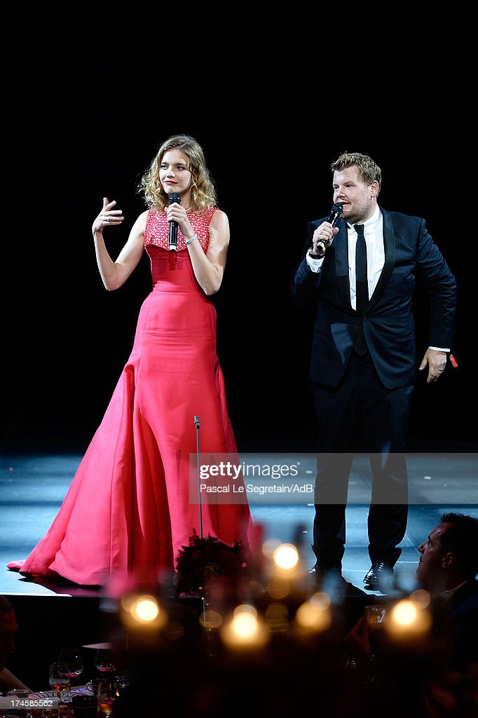 Natalia Vodianova and James Corden attend the dinner at 'Love Ball' hosted by Natalia Vodianova in support of The Naked Heart Foundation at Opera Garnier on July 27, 2013 in Monaco, Monaco.