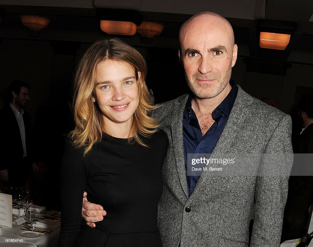 Natalia Vodianova (L) and Jason Brooks attend a private dinner hosted by Lucy Yeomans celebrating Jason Brooks at Cafe Royal on February 12, 2013 in London, England.