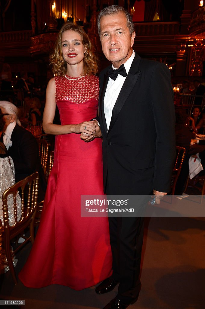 Natalia Vodianova and Mario Testino attend the dinner at the 'Love Ball' hosted by Natalia Vodianova in support of The Naked Heart Foundation at Opera Garnier on July 27, 2013 in Monaco, Monaco.