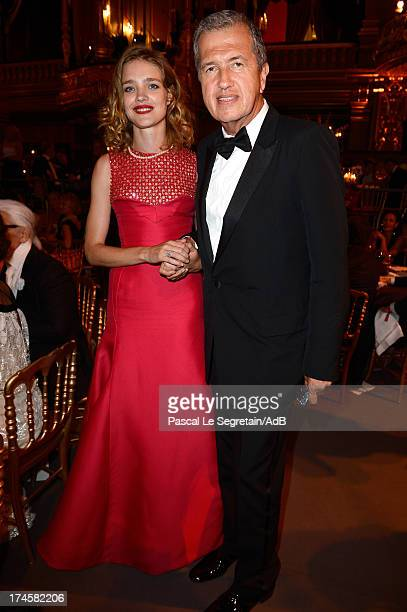 Natalia Vodianova and Mario Testino attend the dinner at the 'Love Ball' hosted by Natalia Vodianova in support of The Naked Heart Foundation at...