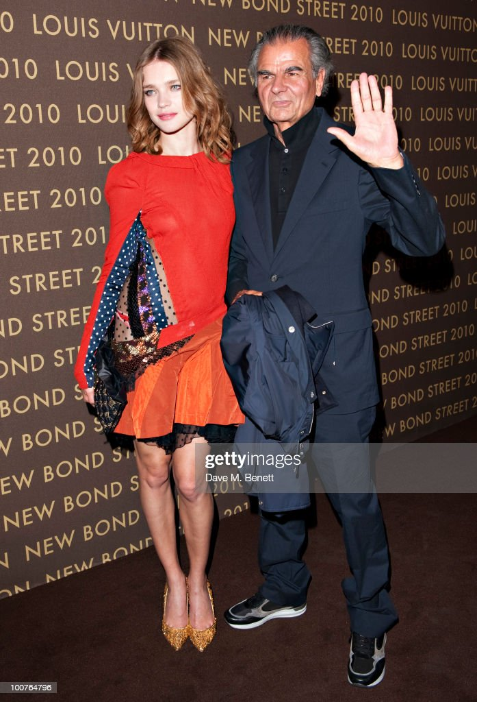 Natalia Vodianova and Patrick Demarchelier arrives at the Louis Vuitton Bond Street Maison launch on New Bond Street on May 25 2010 in London England