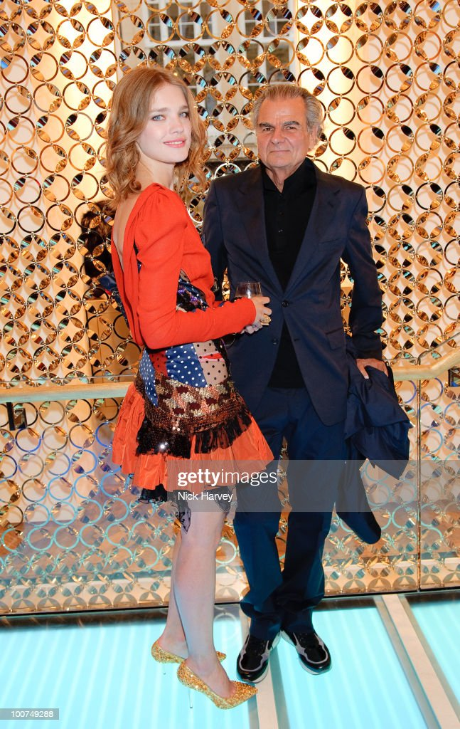 Natalia Vodianova and Patrick Demarchelier attend the launch of the Louis Vuitton Bond Street Maison on May 25 2010 in London England