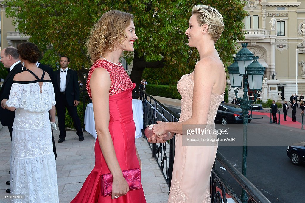 <a gi-track='captionPersonalityLinkClicked' href=/galleries/search?phrase=Natalia+Vodianova&family=editorial&specificpeople=203265 ng-click='$event.stopPropagation()'>Natalia Vodianova</a> and Princess <a gi-track='captionPersonalityLinkClicked' href=/galleries/search?phrase=Charlene+-+Princess+of+Monaco&family=editorial&specificpeople=726115 ng-click='$event.stopPropagation()'>Charlene</a> of Monaco attend the cocktail at the 'Love Ball' hosted by <a gi-track='captionPersonalityLinkClicked' href=/galleries/search?phrase=Natalia+Vodianova&family=editorial&specificpeople=203265 ng-click='$event.stopPropagation()'>Natalia Vodianova</a> in support of The Naked Heart Foundation at Opera Garnier on July 27, 2013 in Monaco, Monaco.