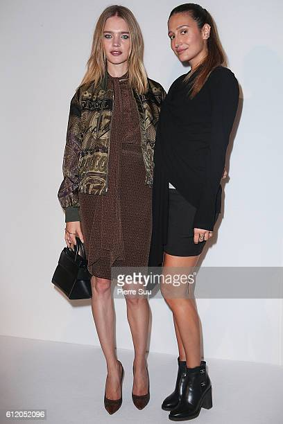 Natalia Vodianova and Siran Manoukian attend the Siran Presentation At Hotel Plaza Athenee as part of the Paris Fashion Week Womenswear on October 2...