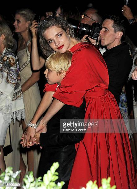 Natalia Vodianova and son Lucas attend The White Fairy Tale Love Ball hosted by Valentino Garavani and Natalia Vodianova in aid of the Naked Heart...