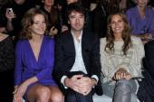 Natalia Vodianova Antoine Arnault and Dasha Zhukova attend the Christian Dior ReadyToWear Fall/Winter 2012 show as part of Paris Fashion Week at...
