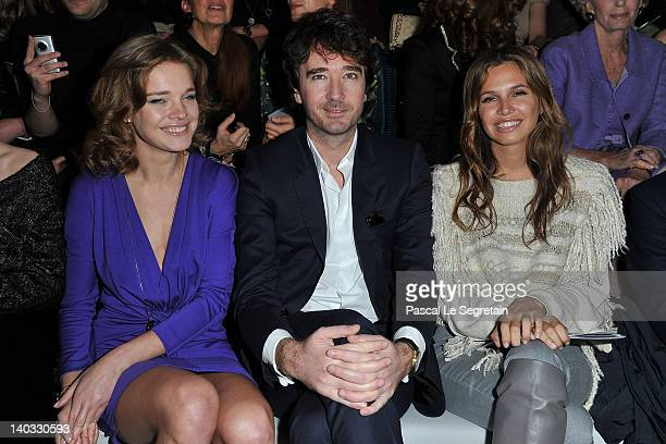 Natalia Vodianova Antoine Arnault and Dasha Zhukova attend the Christian Dior ReadyToWear Fall/Winter 2012 show as part of Paris Fashion Week at...