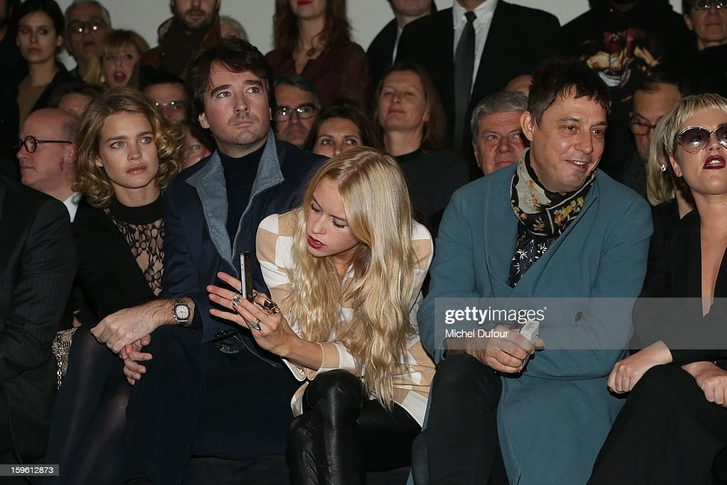 Natalia Vodianova, Antoine Arnault, Mary Charteris and Jamie Hince attend the Louis Vuitton Men Autumn / Winter 2013 show as part of Paris Fashion Week on January 17, 2013 in Paris, France.