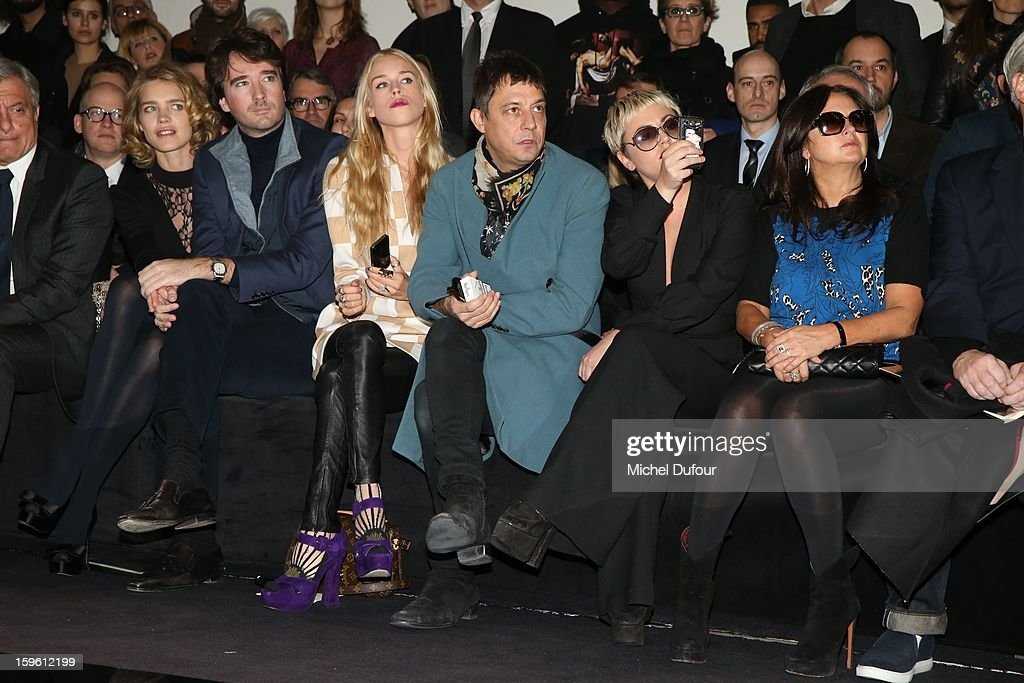 Natalia Vodianova, Antoine Arnault, Mary Charteris, Jamie Hince and Jaime Winstone attend the Louis Vuitton Men Autumn / Winter 2013 show as part of Paris Fashion Week on January 17, 2013 in Paris, France.