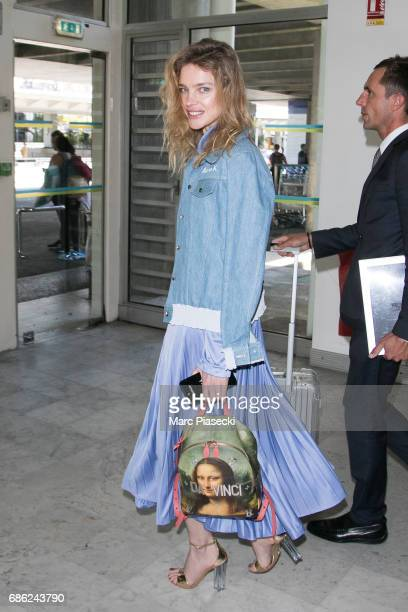 Natalia Vodianova arrives at Nice airport during the 70th annual Cannes Film Festival at on May 21 2017 in Cannes France