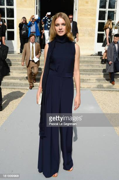 Natalia Vodianova arrives at the Christian Dior show as part of the Paris Fashion Week Womenswear Spring/Summer 2014 at Musee Rodin on September 27...