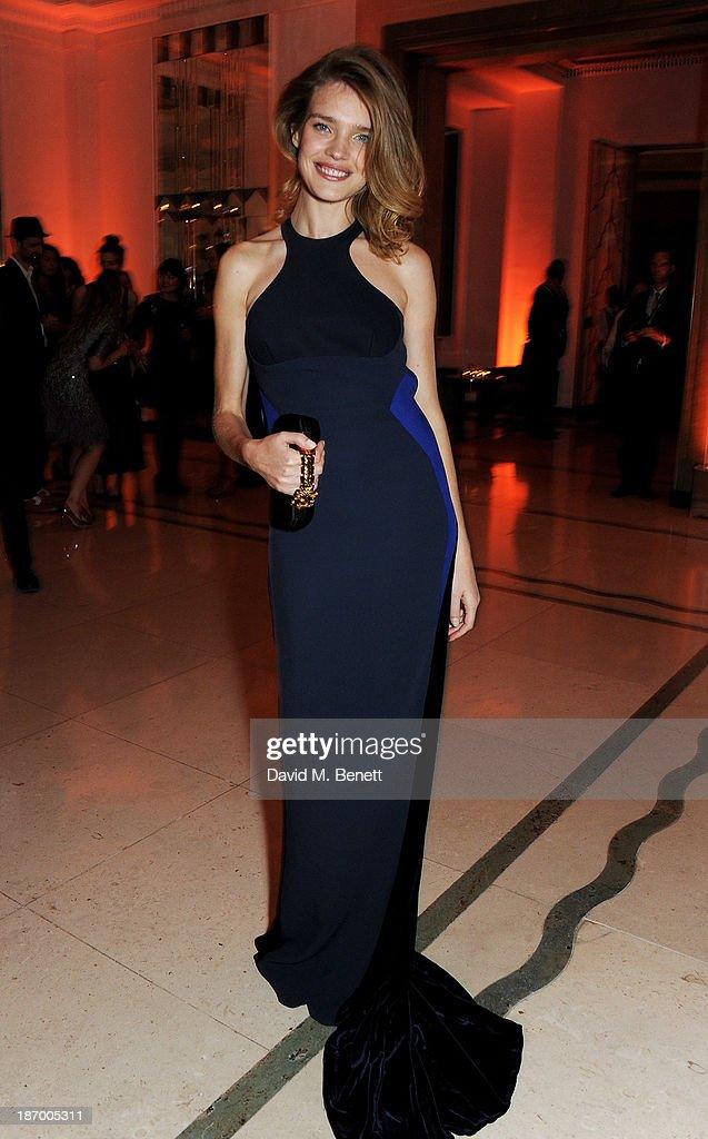 Natalia Vodianova arrives at the Harper's Bazaar Women of the Year awards at Claridge's Hotel on November 5, 2013 in London, England.