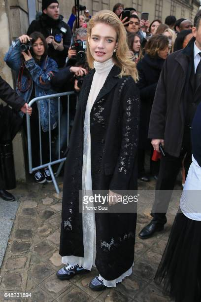 Natalia Vodianova arrives at the Valentino show as part of the Paris Fashion Week Womenswear Fall/Winter 2017/2018 on on March 5 2017 in Paris France