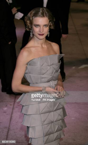 Natalia Vodianova arrives for the annual Vanity Fair Party at Mortons Restaurant Los Angeles