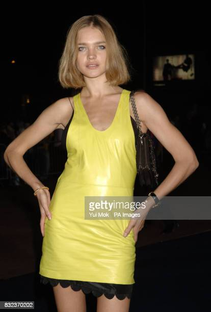 Natalia Vodianova arrives for the Armani show during the London Fashion Week Spring/Summer 2007 Collections at the Earls Court exhibition centre west...