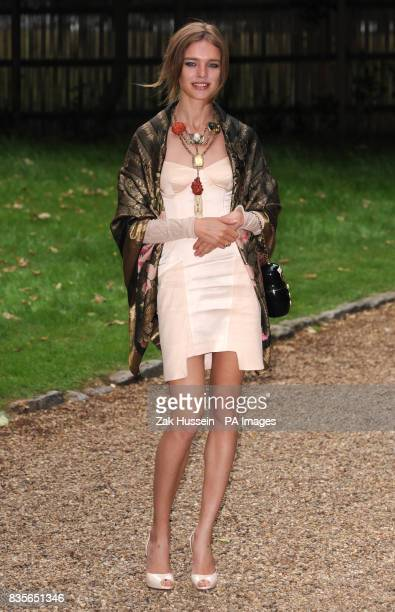 Natalia Vodianova arrives for the Raisa Gorbachev Foundation Annual Fundraising Gala Dinner at Hampton Court Richmond upon Thames in south west London