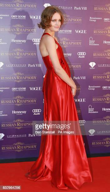 Natalia Vodianova arrives for the Russian Rhapsody Party at Old Billingsgate Market in central London