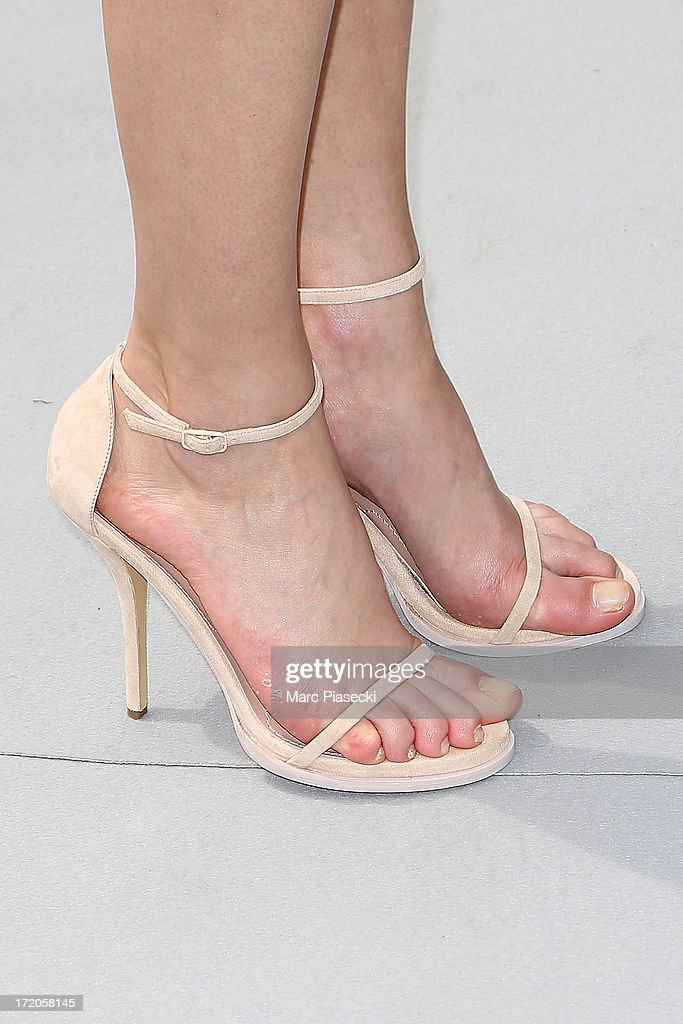 Natalia Vodianova (shoe detail) arrives to attend the Christian Dior show as part of Paris Fashion Week Haute Couture Fall/Winter 2013-2014 at on July 1, 2013 in Paris, France.