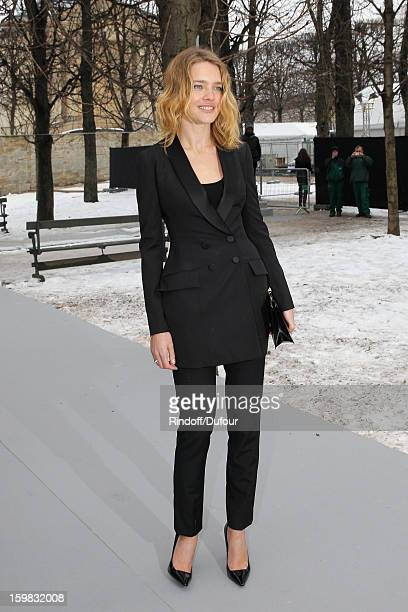 Natalia Vodianova arrives to attend the Christian Dior Spring/Summer 2013 HauteCouture show as part of Paris Fashion Week at on January 21 2013 in...