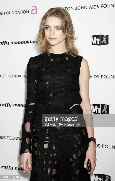 Natalia Vodianova arriving for the 17th annual Elton John AIDS Foundation Party to celebrate the 81st Academy Awards at the Pacific Design Center in...