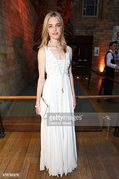 Natalia Vodianova at the inaugural Walkabout Foundation gala drinks by Boujis London at Natural History Museum on June 27 2015 in London England