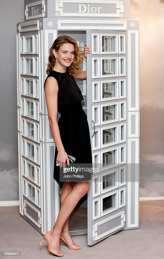 <a gi-track='captionPersonalityLinkClicked' href=/galleries/search?phrase=Natalia+Vodianova&family=editorial&specificpeople=203265 ng-click='$event.stopPropagation()'>Natalia Vodianova</a> attends a photo call to launch Dior at Harrods at Harrods on March 14, 2013 in London, England.