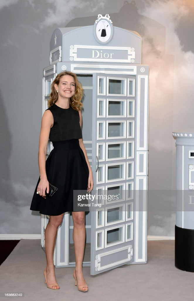 . Natalia Vodianova attends a photocall to launch Dior at Harrods at Harrods on March 14, 2013 in London, England.