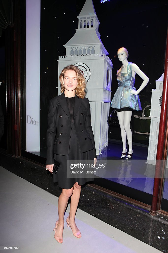 Natalia Vodianova attends a photocall to launch Dior at Harrods on March 14, 2013 in London, England.