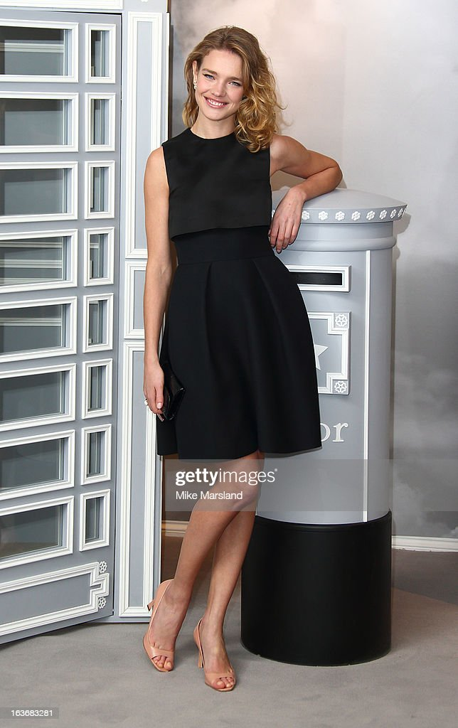Natalia Vodianova attends a photographer to launch Dior at Harrods at Harrods on March 14, 2013 in London, England.