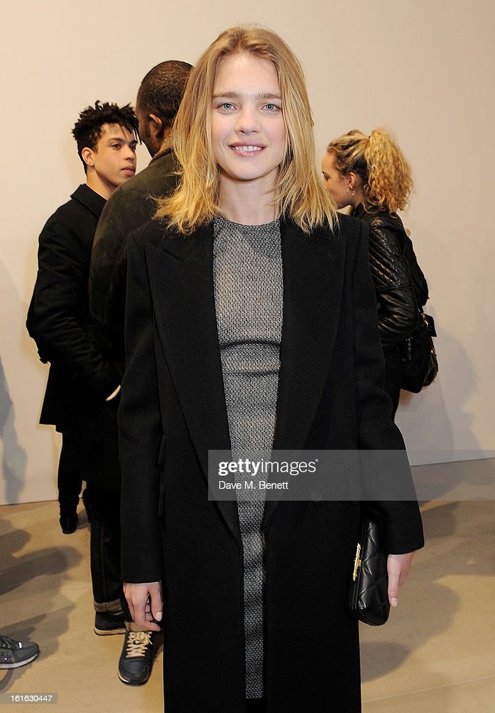 Natalia Vodianova attends a private view of 'Mat Collishaw: This Is Not An Exit' at Blaine/Southern Gallery on February 13, 2013 in London, England.