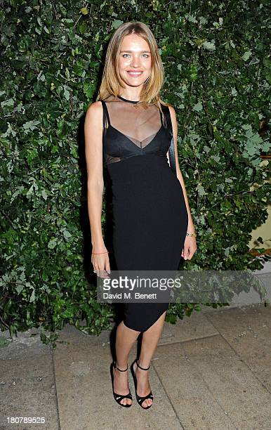 Natalia Vodianova attends an evening to celebrate The Global Fund hosted by the Earl and Countess of Mornington Anna Wintour Livia Firth and Natalie...