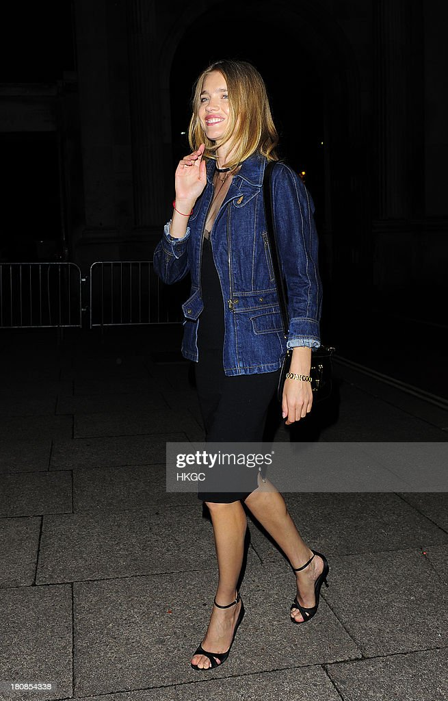 Natalia Vodianova attends an evening to celebrate The Global Fund hosted by the Earl and Countess of Mornington, Anna Wintour, Livia Firth and Natalie Massenet at Apsley House on September 16, 2013 in London, England.