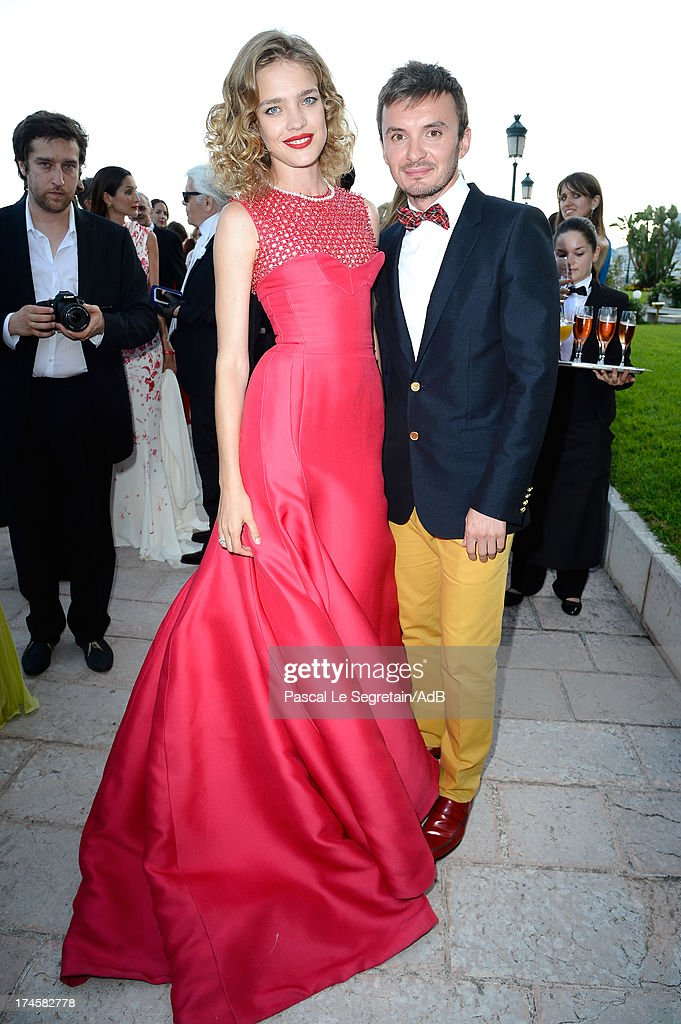 Natalia Vodianova (L) attends cocktail at 'Love Ball' hosted by Natalia Vodianova in support of The Naked Heart Foundation at Opera Garnier on July 27, 2013 in Monaco, Monaco.