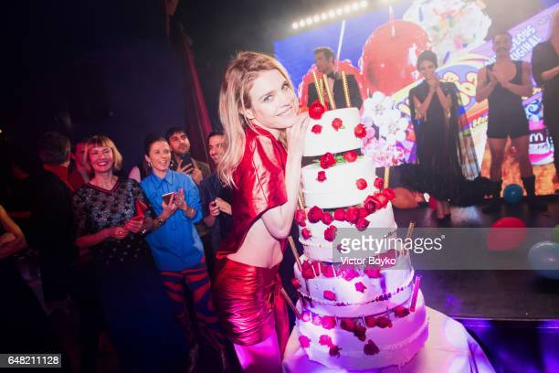 Natalia Vodianova attends her birthday Vogue Cabaret Party as part of the Paris Fashion Week Womenswear Fall/Winter 2017/2018 on March 4 2017 in...