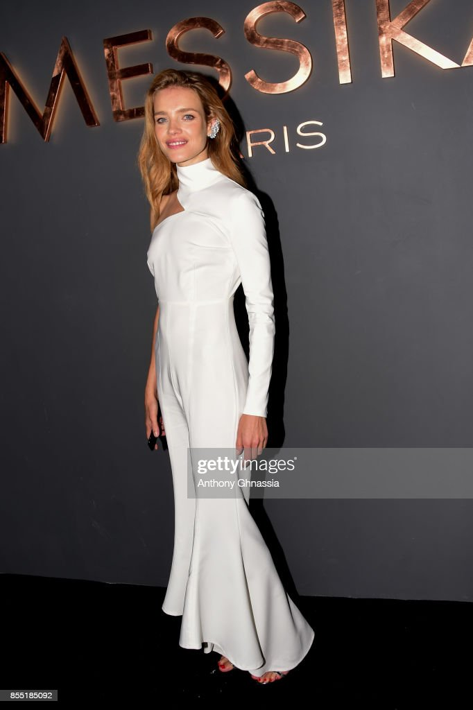 Natalia Vodianova attends Messika cocktail as part of the Paris Fashion Week Womenswear Spring/Summer 2018 on September 27, 2017 in Paris, France.