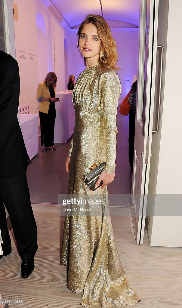 Natalia Vodianova attends the 'Arts For Life' charity auction hosted by Susan Hayden, Nadja Swarovski and Natalia Vodianova to raise funds for Borne, a research programme on premature birth, at the Saatchi Gallery on June 24, 2013 in London, England.