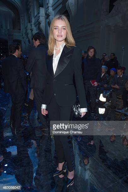 Natalia Vodianova attends the Berluti Menswear Fall/Winter 20152016 show as part of Paris Fashion Week on January 23 2015 in Paris France