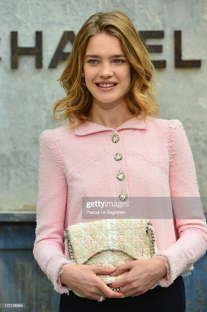 Natalia Vodianova attends the Chanel show as part of Paris Fashion Week Haute-Couture Fall/Winter 2013-2014 at Grand Palais on July 2, 2013 in Paris, France.