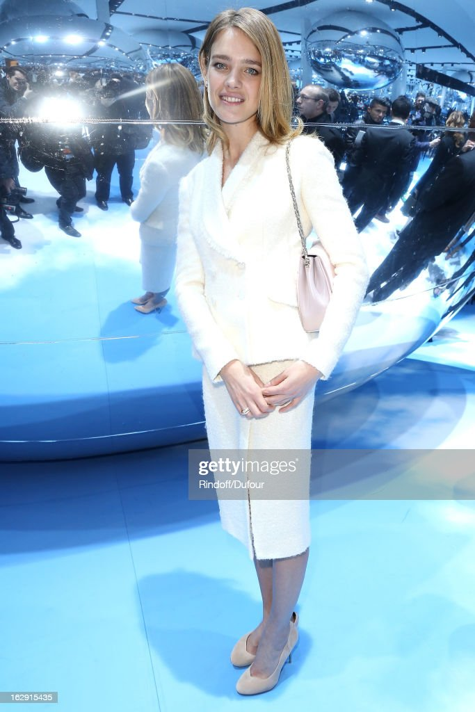 <a gi-track='captionPersonalityLinkClicked' href=/galleries/search?phrase=Natalia+Vodianova&family=editorial&specificpeople=203265 ng-click='$event.stopPropagation()'>Natalia Vodianova</a> attends the Christian Dior Fall/Winter 2013 Ready-to-Wear show as part of Paris Fashion Week on March 1, 2013 in Paris, France.