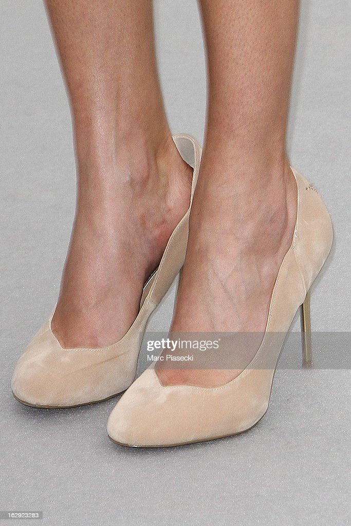 Natalia Vodianova (shoe detail) attends the 'Christian Dior' Fall/Winter 2013 Ready-to-Wear show as part of Paris Fashion Week on March 1, 2013 in Paris, France.