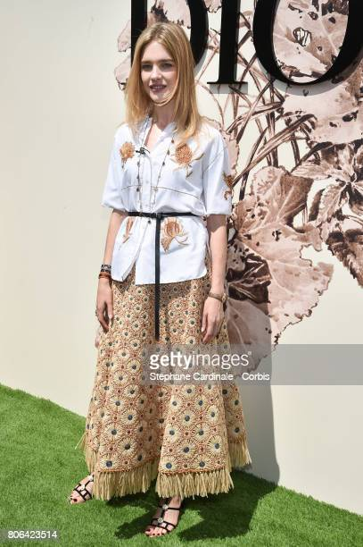 Natalia Vodianova attends the Christian Dior Haute Couture Fall/Winter 20172018 show as part of Haute Couture Paris Fashion Week on July 3 2017 in...